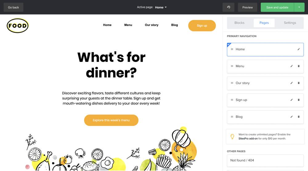 MailerLite Website - Pages
