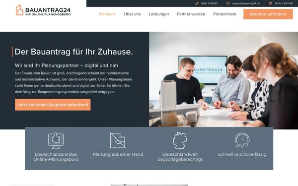 HEROBRAND® Story-Webdesign Bauantrag24